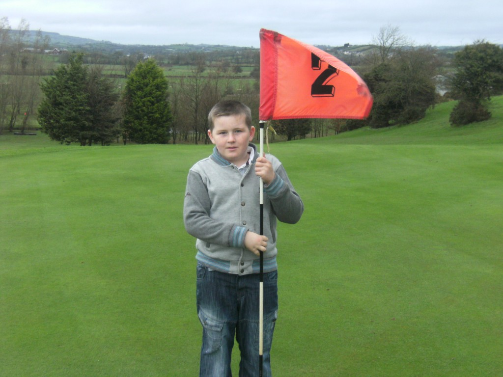 Oisin McLoughlin pictured at the 2nd Hole
